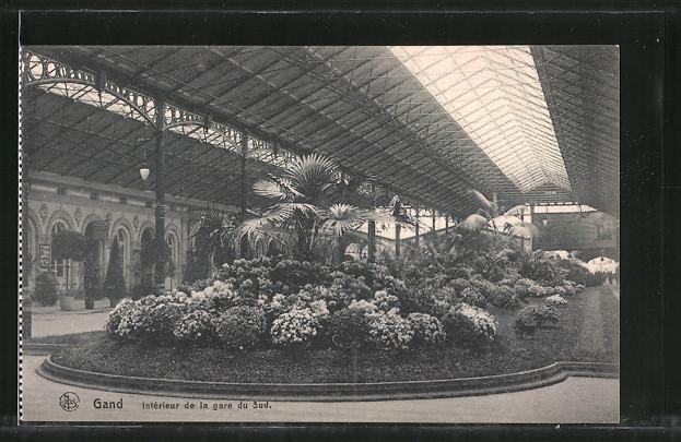 AK Gand, Interieur de la gare du Sud, Bahnhof Nr. 7329275 - oldthing ...