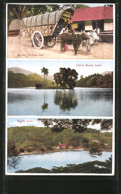 AK Kandy, Double Bullock cart, Island & Kandy Lake