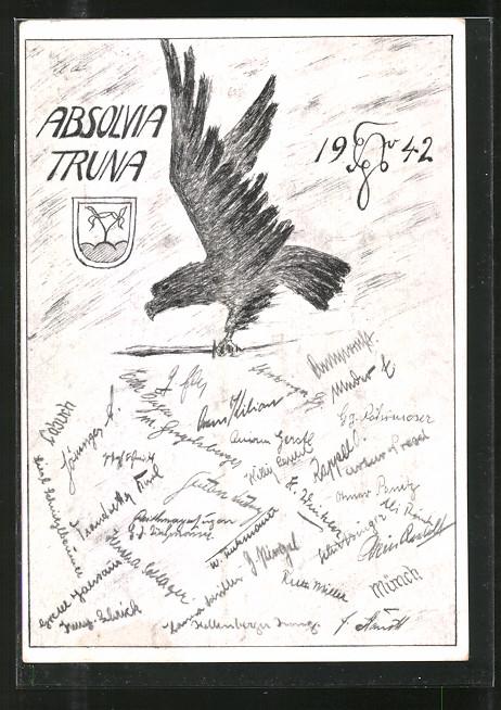 AK Traunstein, Absolvia Truna, Adler mit Schwert, Wappen