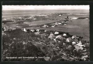 AK St. Peter-Ording, Ortsansicht vom Flugzeug aus