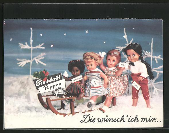 AK Reklame für Schildkröt Puppen