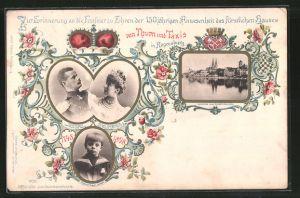 AK Regensburg, Fürst Albert und Fürstin Margaretha von Thurn & Taxis, Erbprinz Franz Josef