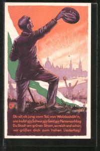 Künstler-AK Dresden, 1. Sächsisches Sängerbundes-Fest 1925