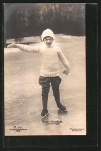 AK Prinz Wilhelm beim Schlittschuhlaufen