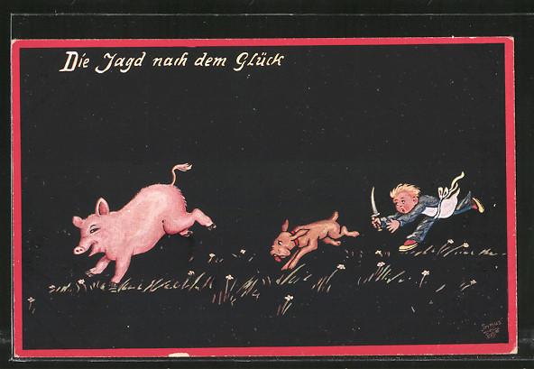 Künstler-AK Wohlgemuth & Lissner, Primus-Postkarte No. 1132,