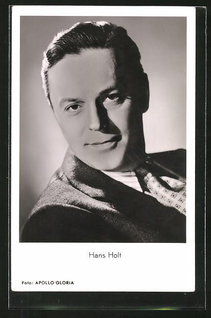 AK Schauspieler Hans Holt im Anzug porträtiert