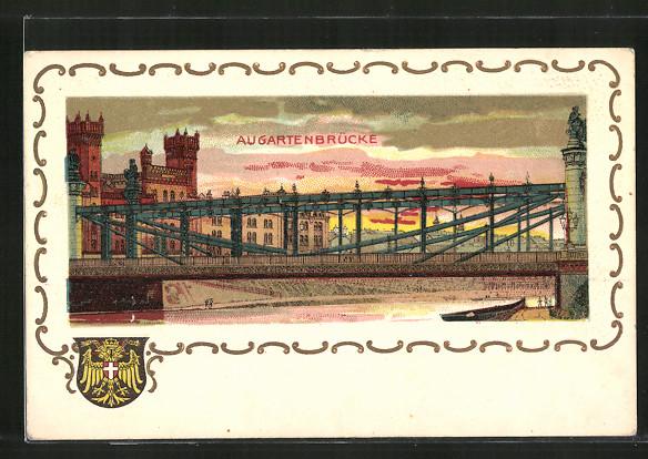 AK Wien, Blick auf die Augartenbrücke