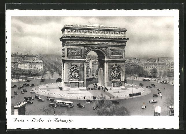 AK Paris, L'Arc de Triomphe, Triumphbogen