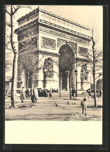 AK Paris, L'Arc de Triomphe, Triumphbogen, Totale