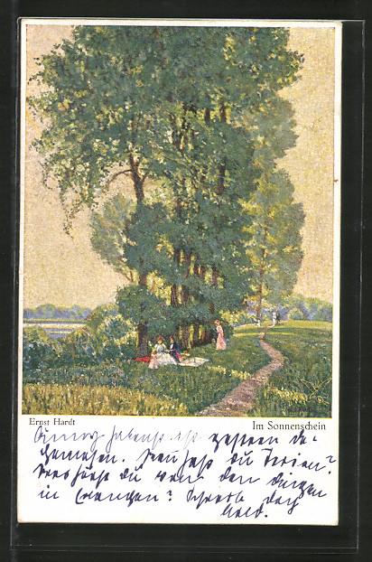 Künstler-AK Wohlgemuth & Lissner, Primus-Postkarte No. 3152, Im Sonnenschein, Landidyll