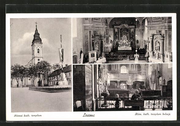 AK Losonc, Római kath. templom, Róm. kath. templom belseje
