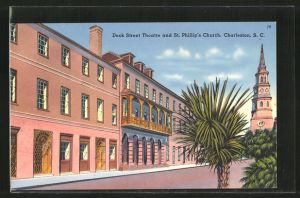 AK Charleston, SC, Dock Street Theatre and St. Phillip's Church