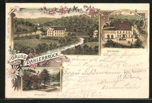 Lithographie Dahlerbrück, Hotel Hencke, Glör-Hammer
