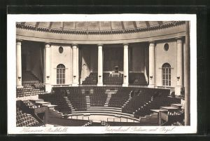 AK Hannover, Stadthalle, Kuppelsaal mit Podium und Orgel