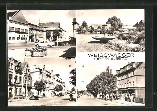AK Weisswasser, Muskauer Strasse, Anlagen an der Muskauer Strasse, Bautzener Strasse