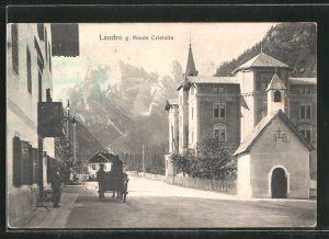 AK Landro, Strassenansicht mit Blick zum Monte Cristallo