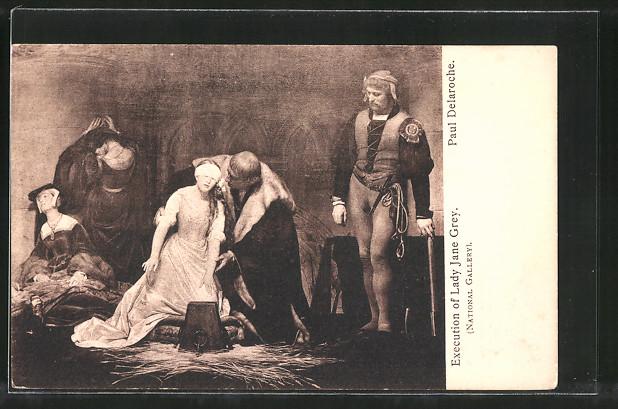 AK Execution of Lady Jane Grey, Gemälde Paul Delaroche