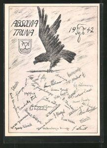 AK Traunstein, Absolvia Truna 1942, Adler mit Schwert