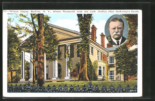AK Buffalo, NY, Wilcox House, where Roosevelt took the oath of office after McKinley's death, Präsident der USA