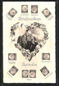 AK Briefmarkensprache: