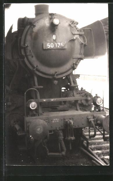 Foto-AK Frontansicht einer Lok, Eisenbahn