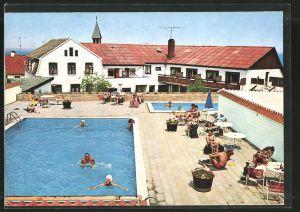 AK Bornholm, Terrasse med Swimmingpool, Hotel Casa Blanca