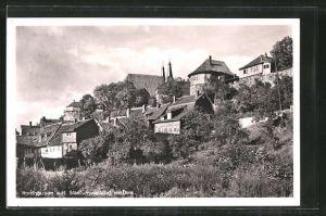 AK Nordhausen, Stadtumwallung mit Dom
