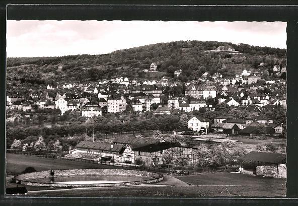 AK Bad Nauheim, Ortspanorama vom Berg aus gesehen