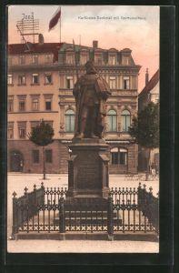 AK Jena, Kurfürstendenkmal mit Germanenhaus