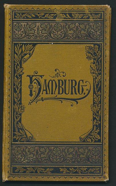 Leporello-Album Hamburg, mit 16 Lithographie-Ansichten, Pariser-Bahnhof, Zoologischer Garten, Hafen, verzierter Einband