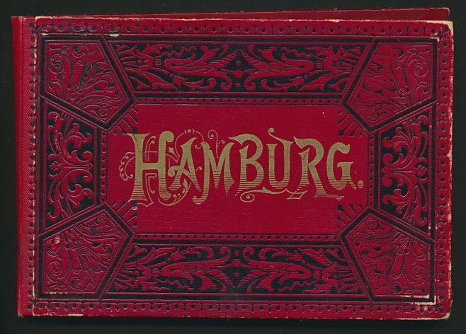Leporello-Album Hamburg, mit 23 Lithographie-Ansichten, Hafen, Jungfernstieg, Hotel Hamburger Hof, Börse, Oper, Alster