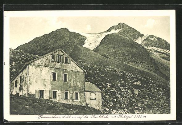 AK Hannoverhaus, Berghütte auf der Arnoldhöhe mit Ankogel