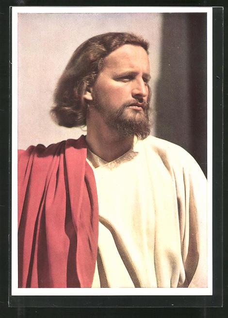 AK Oberammergau, Passionsspiele 1950, Christus-Darsteller Anton Preisinger