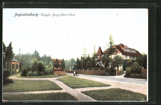 AK Augustusburg, König Albert-Platz