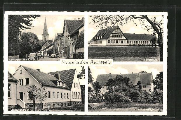 AK Neuenkirchen, Volksschule, Landjugendheim, Schloss Königsbrück