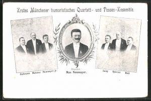 AK Erstes Münchener humoristisches Quartett- und Possen-Ensemble