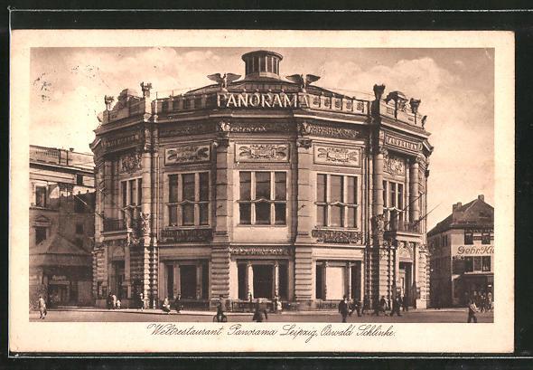 AK Leipzig, Rundbau des Weltrestaurants Panorama 0