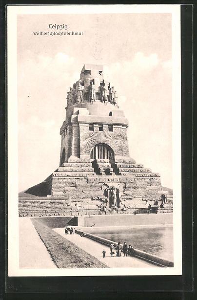 AK Leipzig, Blick auf das Völkerschlachtdenkmal