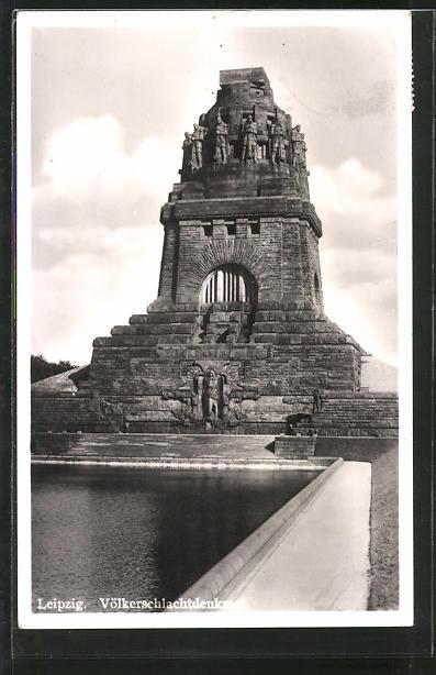 AK Leipzig, Ansicht vom Völkerschlachtdenkmal