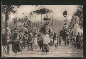 AK Ceylon, The Kandy Perahera, Elefanten