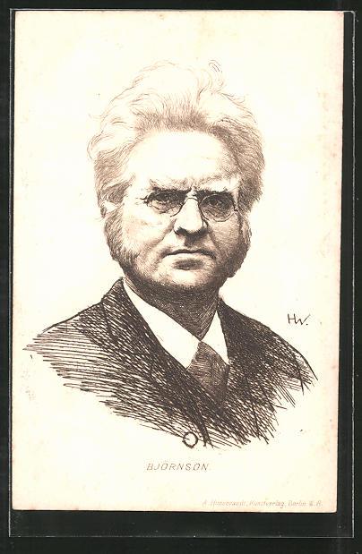 Künstler-AK Björnstjerne Björnson, Portrait des Autors