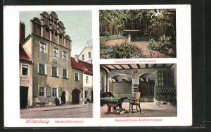 AK Wittenberg, Melanchthonhaus, Melanchthons Gartenteich, Melanchthons Studierzimmer