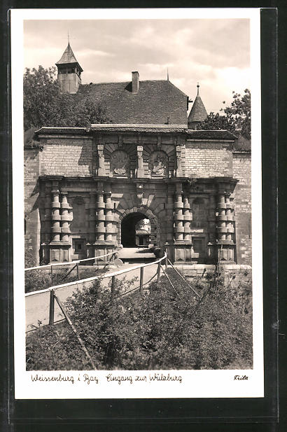 AK Weissenburg, Eingang zur Wülzburg