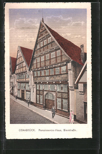 AK Osnabrück, Renaissance-Haus in der Bierstrasse