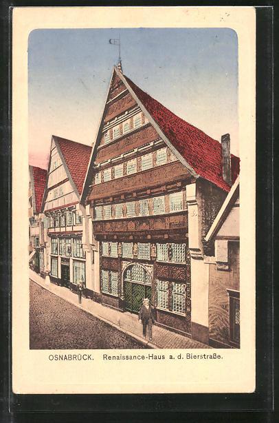 AK Osnabrück, Renaissance-Haus an der Bierstrasse