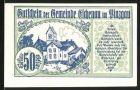 Notgeld Eschenau im Pinzgau 1920, 50 Heller, Ortsmotiv