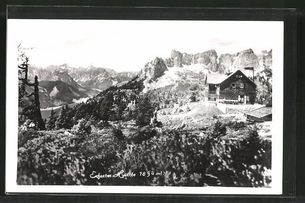 AK Erfurter Hütte im Hochgebirge