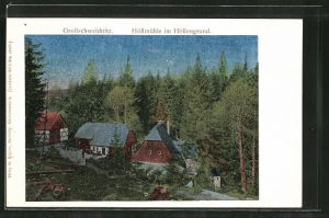 Luna-AK Grossschweidnitz, Höllmühle im Höllengrund