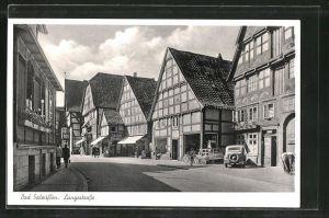 AK Bad Salzuflen, Langestrasse mit Geschäften