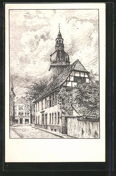 Künstler Bielefeld künstler ak bielefeld strassenpartie an der kirche nr 7388528
